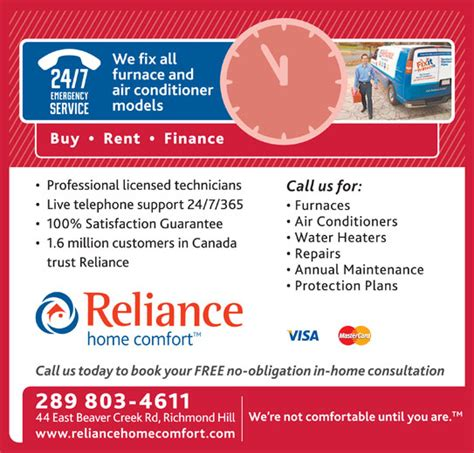 reliance home comfort richmond hill on 17 44 east
