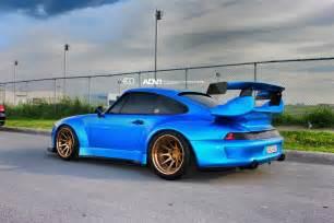 Rwb Porsche Stunning Rwb Porsche 993 Turbo With Golden Adv 1 Wheels