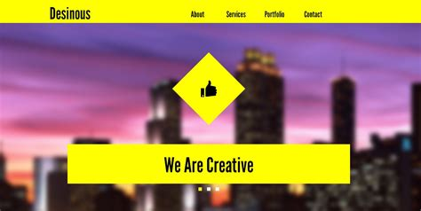 desinous parallax scrolling muse template muse templates