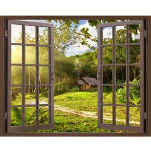 window frame mural house and garden huge size peel and 17 creative exterior and interior wall murals