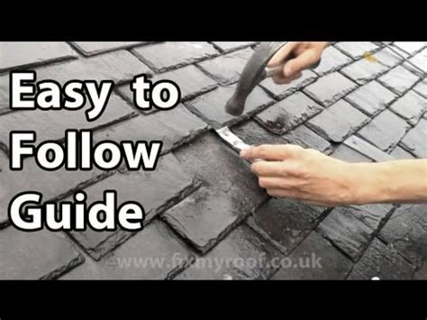 slate roof repair how to replace a slate & broken slates