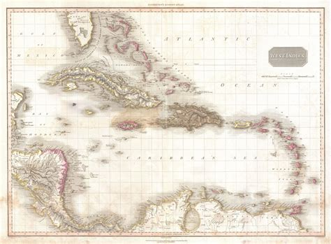 map of the west file 1818 pinkerton map of the west indies antilles and