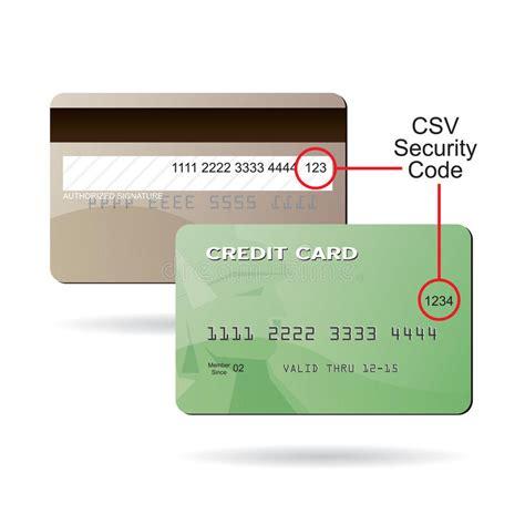 Sle Credit Card Number With Security Code C 243 Digo De Seguridad De La Tarjeta De Cr 233 Dito De Csv Fotos De Archivo Imagen 20487983