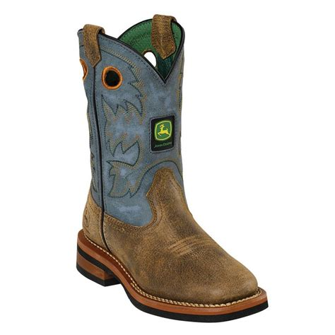 boys cowboy boots johnny popper western boots boys deere cowboy brown