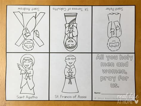 printable coloring pages for all saints day all saints day coloring page litany of saints mini book