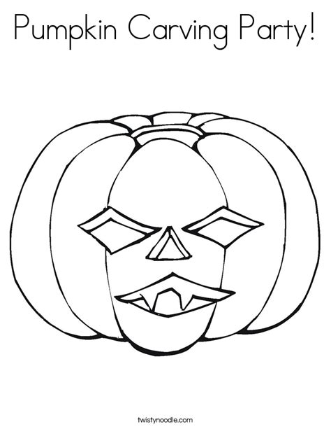 pumpkin carving coloring pages pumpkin carving party coloring page twisty noodle