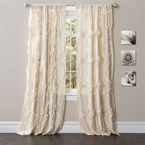 overstock drapes lush decor 84 inch avon curtain panel contemporary