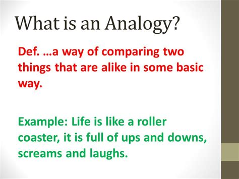 ups and downs and all that stuff books what is an analogy def a way of comparing two things