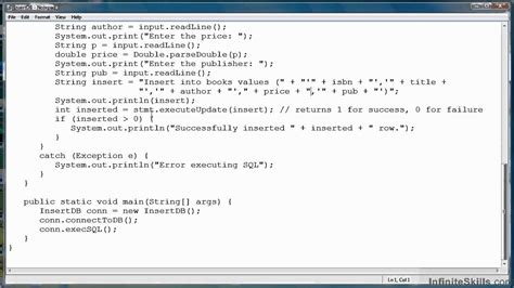 tutorial java and database java database programming tutorial inserting data into