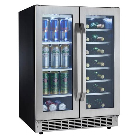 built in beverage center danby dbc7070blsst silhouette select built in dual zone beverage center wine cooler at hayneedle
