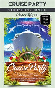 cruise party free flyer psd template facebook by