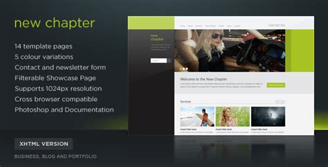 themeforest latest templates new chapter site template 5 themes themeforest