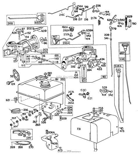 briggs and stratton fuel diagram briggs and stratton 100202 4010 43 parts diagram for