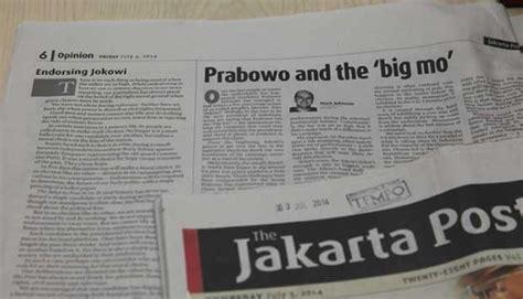 menulis opini di jakarta post the jakarta post dukung jokowi jk dewan pers tak ada