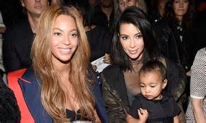 beyonce and jay z insult kim kardashian and kanye west beyonc 233 posts instagram snap with kim kardashian and north