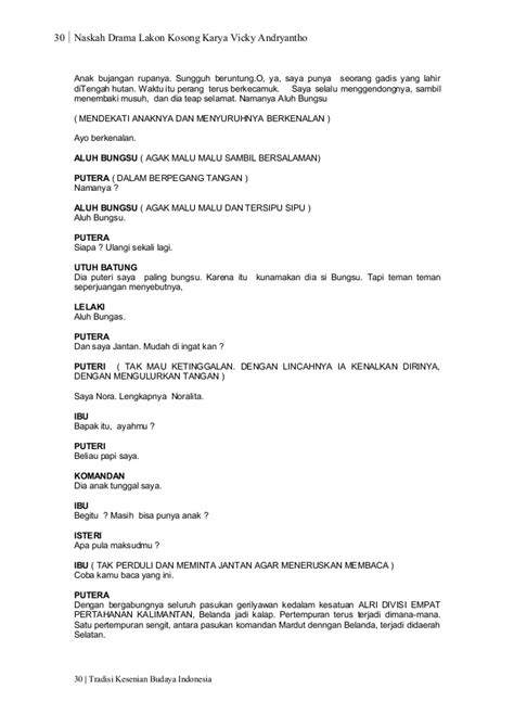 naskah drama 2015 mencari contoh naskah drama treest contoh naskah drama 20