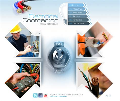 16 Electrician Website Themes Templates Free Premium Templates Free Electrician Website Template