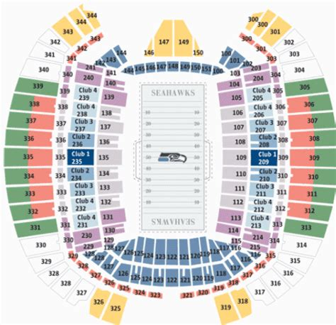 centurylink field map centurylink field seattle wa seating chart view