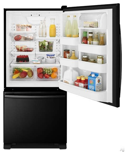 Bottom Freezer Drawer Refrigerator by Amana Abb1924br 18 5 Cu Ft Bottom Freezer Refrigerator With Spillsaver Glass Shelves Two
