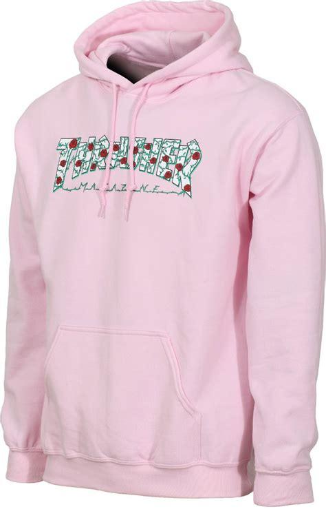 light pink hoodie mens thrasher roses hoodie light pink men s skateboard hoodie