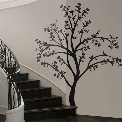 tree stickers for walls lot 26 studio silhouette tree wall decal fab