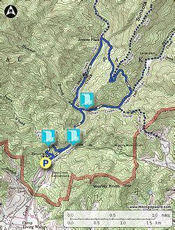gsmnp trail map creek hike