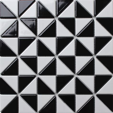 pattern ideas 2 glossy multi windmill pattern porcelain triangle tile