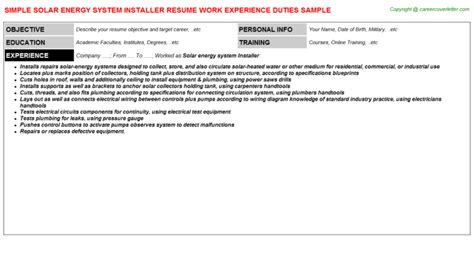 Solar Thermal Installer Sle Resume by Window Tint Installer Resumes
