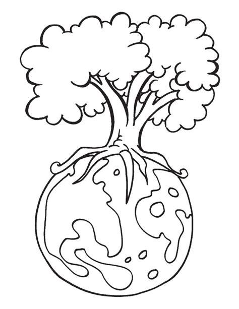 coloring pages for adults earth day 193 rbol sobre el planeta dibujalia dibujos para colorear