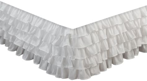 white ruffle bed skirt greenland home fashions multi ruffle bed skirt white queen ebay