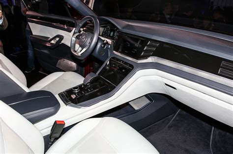 volkswagen atlas interior volkswagen atlas cross sport concept previews two row