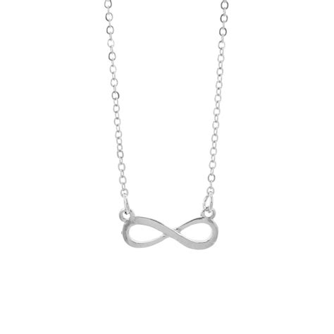 small silver color infinity necklace 1 landing company