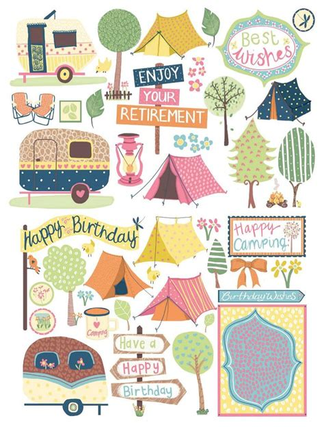 outdoor printable sticker paper cute cing free digital papers scrapbooking