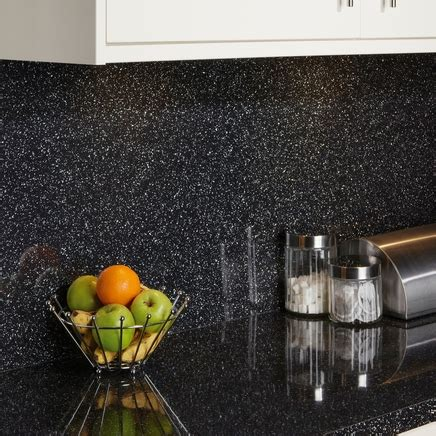 Black Mirror Chip backboard   Kitchen worktop backboards
