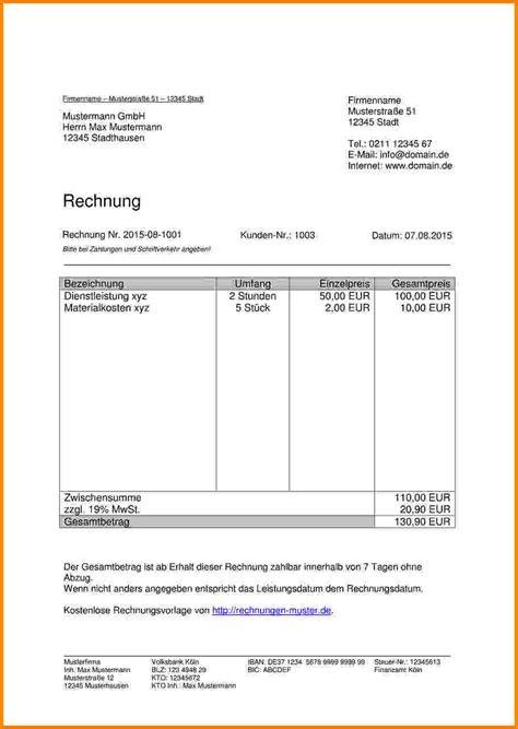 Muster Rechnungskorrektur 9 Rechnung Schreiben Vorlage Kostenlos Sponsorshipletterr