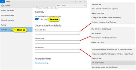 windows 10 basics tutorial turn on or off autoplay in windows 10 windows 10 tutorials