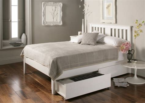Malmo White Wooden Bed Frame Wooden Bed Frames White