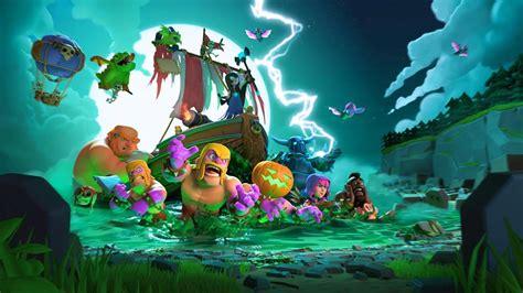 wallpaper coc dark a atualiza 231 227 o de halloween chegou clash of clans dicas