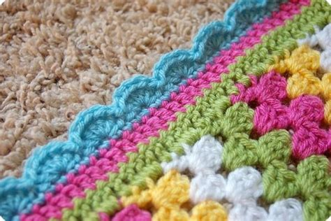 Crochet Edging For Blankets by Crocheting The Day Away Stripe Blanket Crochet