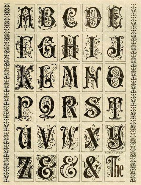 fancy alphabets printable bold  decorative vintage