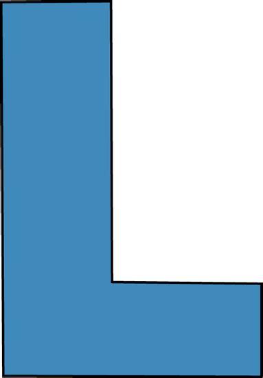 l with clip blue alphabet letter l clip art blue alphabet letter l image