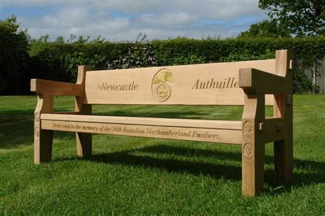 bench memorial oak memorial benches hand made in the united kingdom