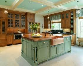 green kitchen islands when and how to add a copper farmhouse sink to a kitchen
