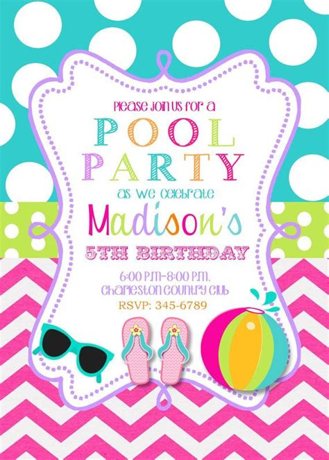 free pool party invitation template musicalchairs us