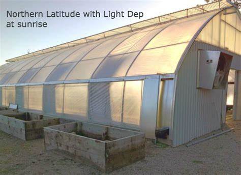 Light Deprivation by Northern Latitude Greenhouses Forever Flowering