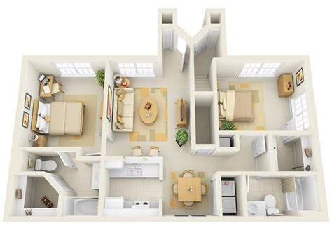 2 bed 2 bath apartment 2 bedroom apartment house plans