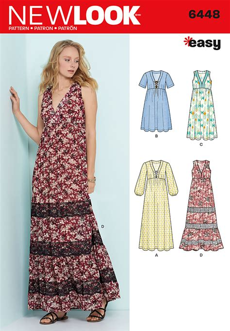 Dress Look new look 6448 misses easy v neck dresses
