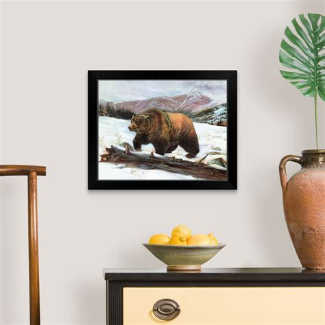 monarch black framed wall art print bear home decor ebay