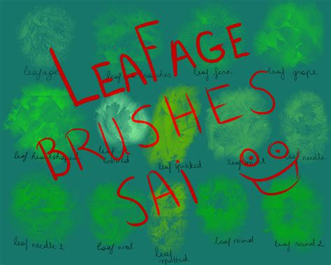 paint tool sai leaf brush leafage paint tool sai brushes by l1ghttang3ll on deviantart