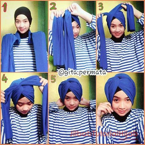 tutorial dandan ke kus gambar video tutorial hijab tanpa jarum pentul jilbab